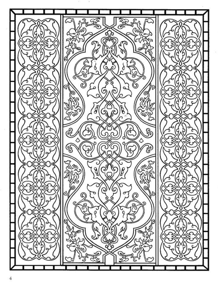 Dover coloring pages printable coloring page dover for Zentangle tile template
