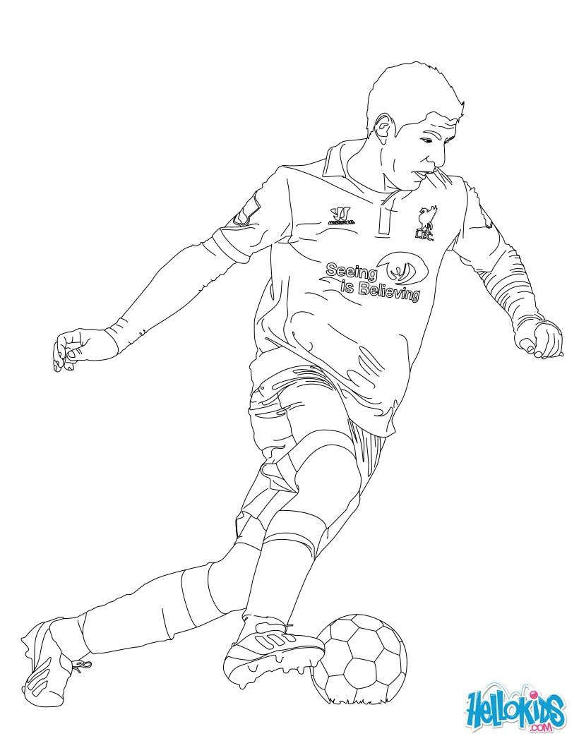 Soccer Players Coloring Pages Suarez Coloring Home