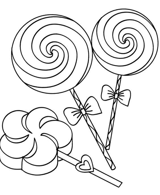 lollipop candy and canes coloring page home - Lollipop Coloring Pages Printable