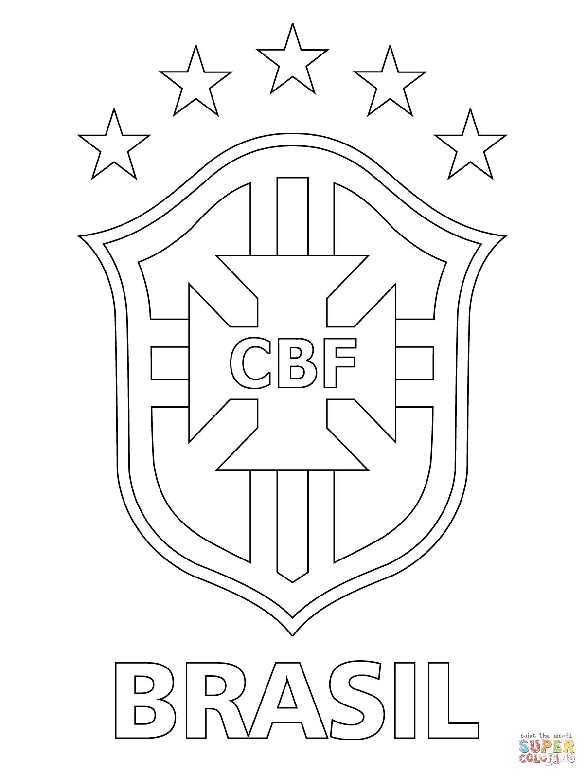 logo of brazilian football confederation coloring page free