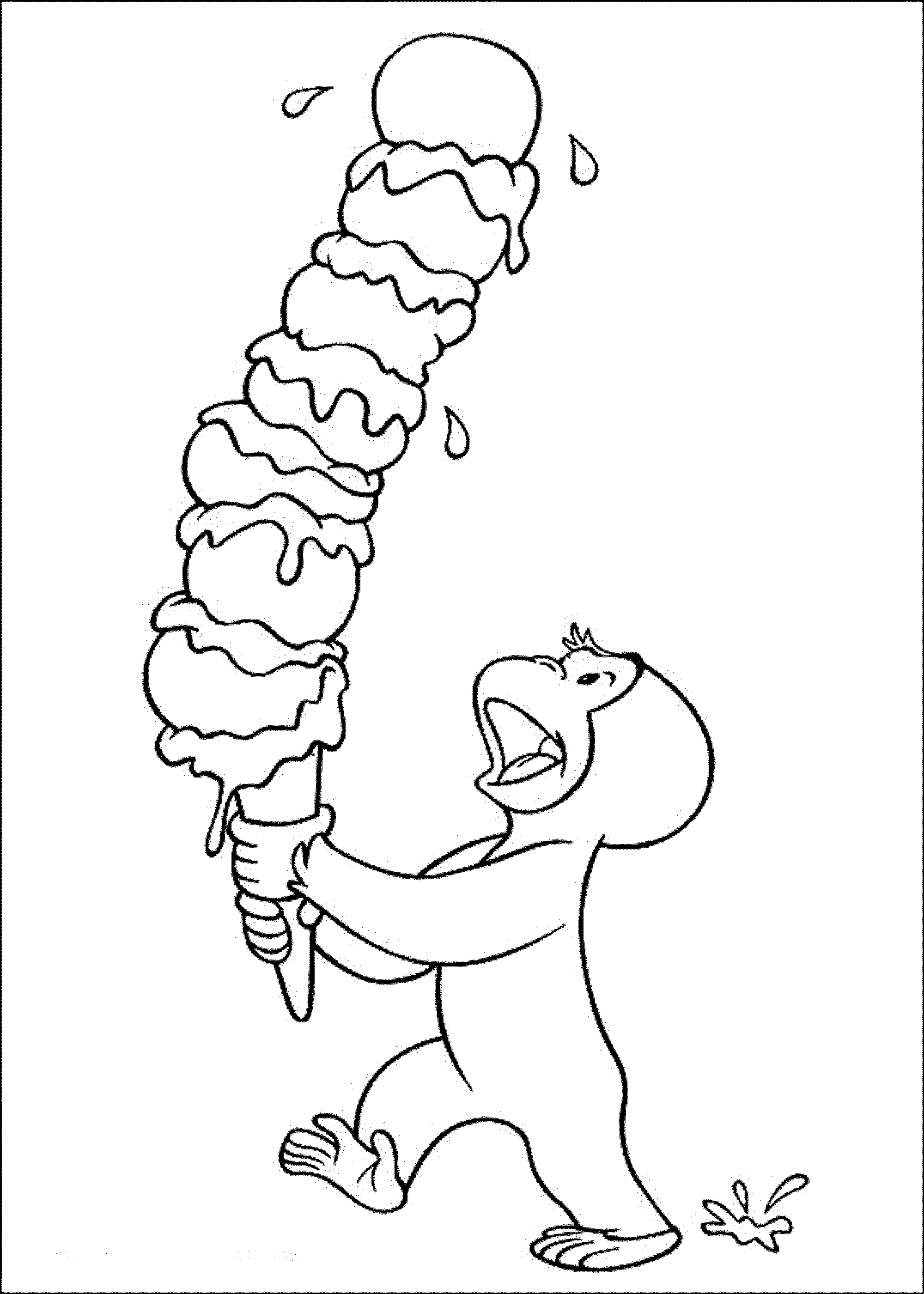 coloring pages of curious george - photo#19