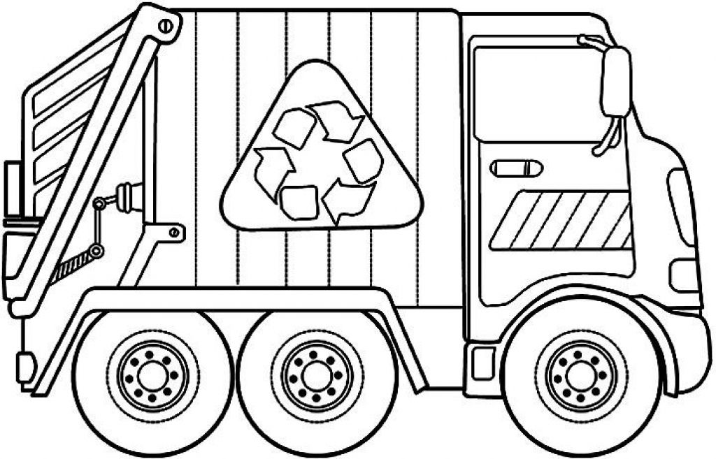 trash truck coloring pages - photo#4
