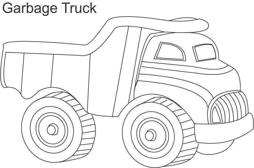 Garbage Truck Coloring Page AZ