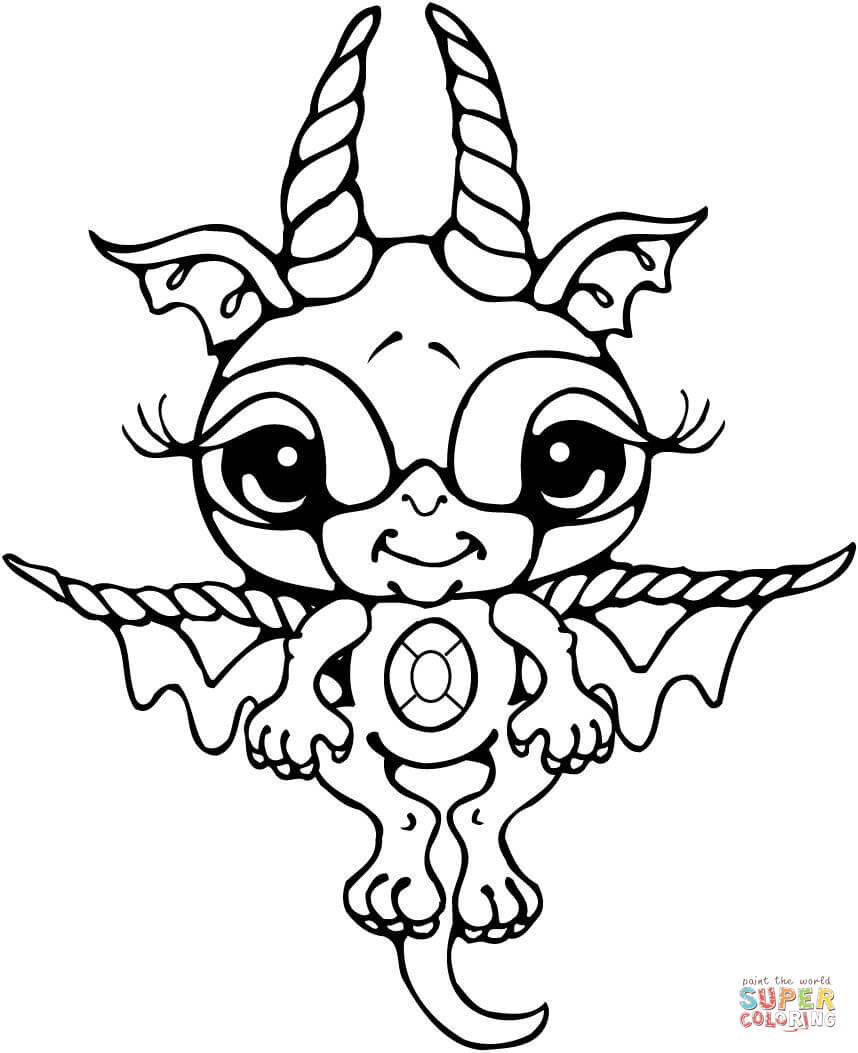 Baby Dragon Coloring Pages Coloring