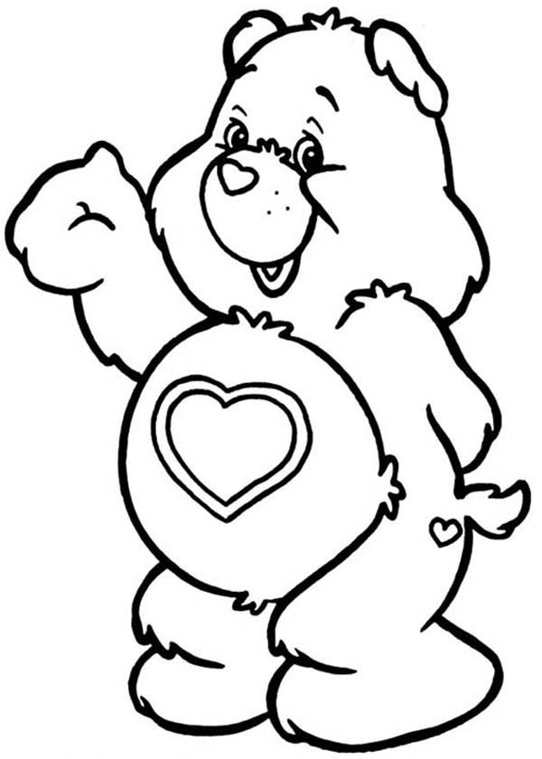 care bear heart coloring pages | All My Heart Care Bear Coloring Page Coloring Pages