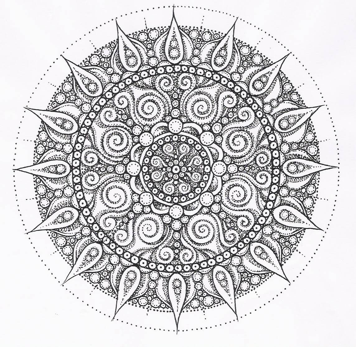 Free coloring pages kaleidoscope printable