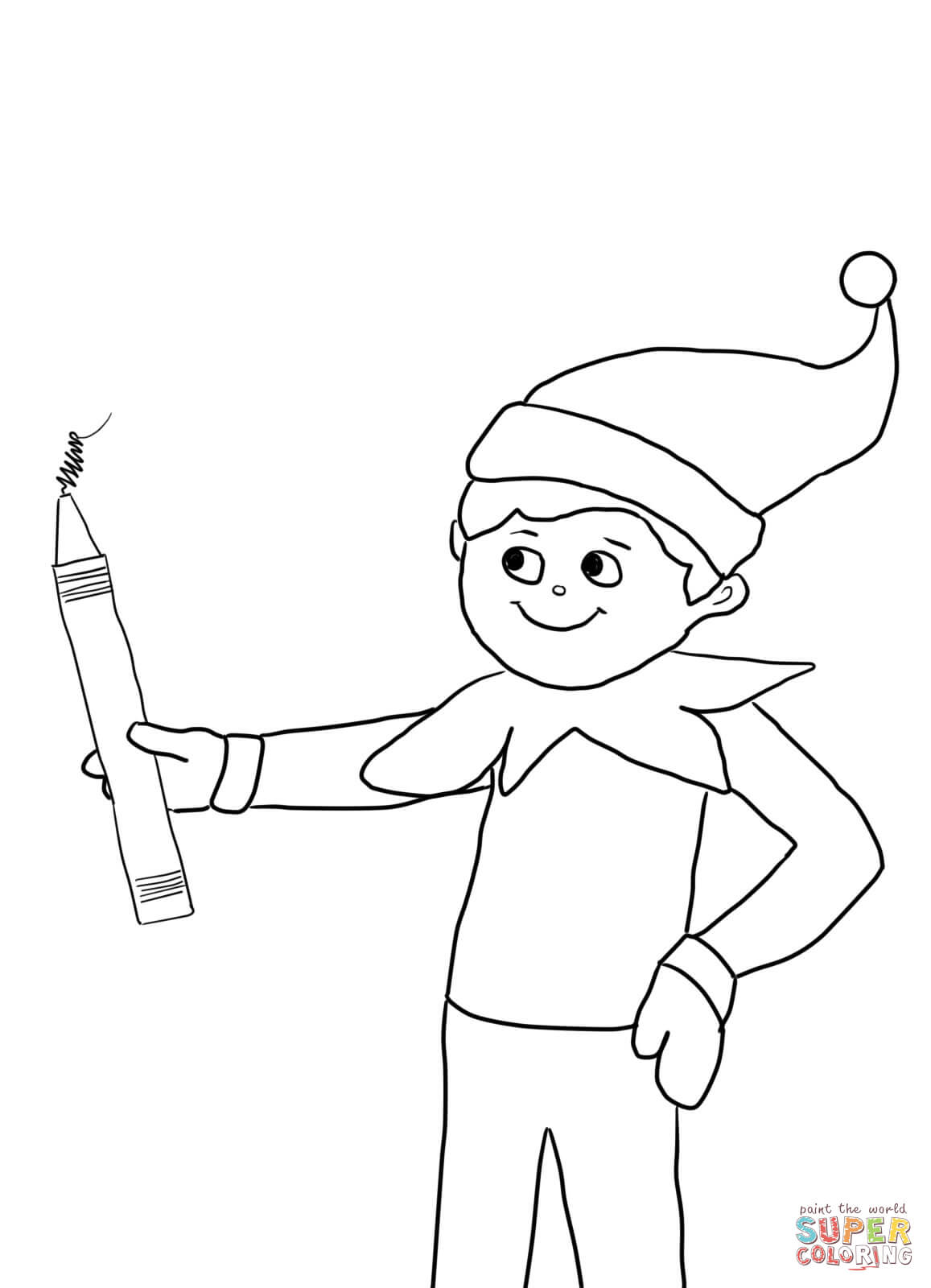 Elf On The Shelf Printable Coloring Pages Coloring Home On The Shelf Coloring Page