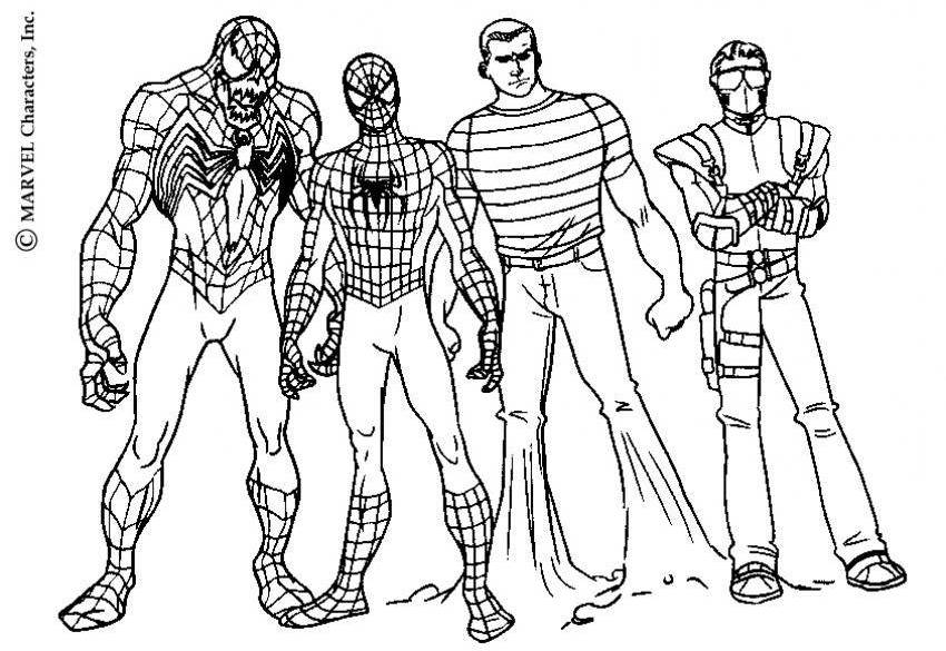 Spiderman And Venom Coloring Page Coloring Home