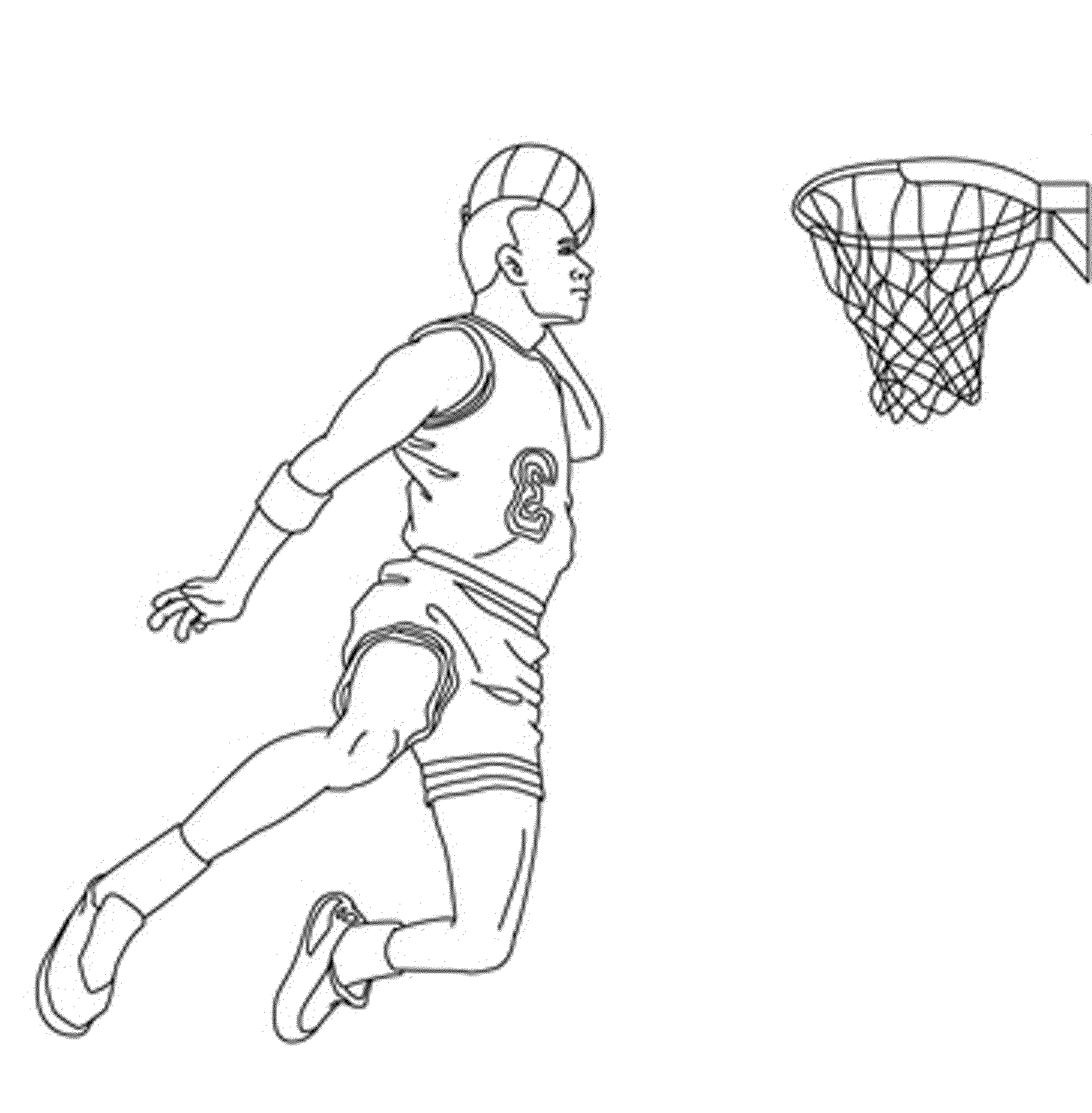 basketball player printable coloring pages - photo#10