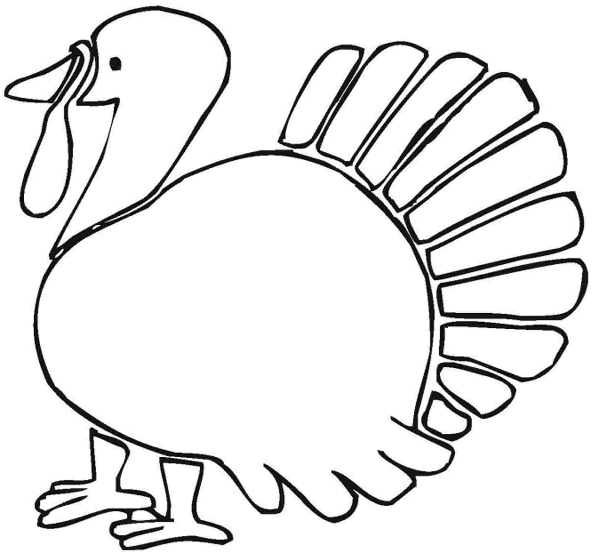 Turkey Coloring Pages For Kindergarten : Turkey coloring pages printable for preschool home