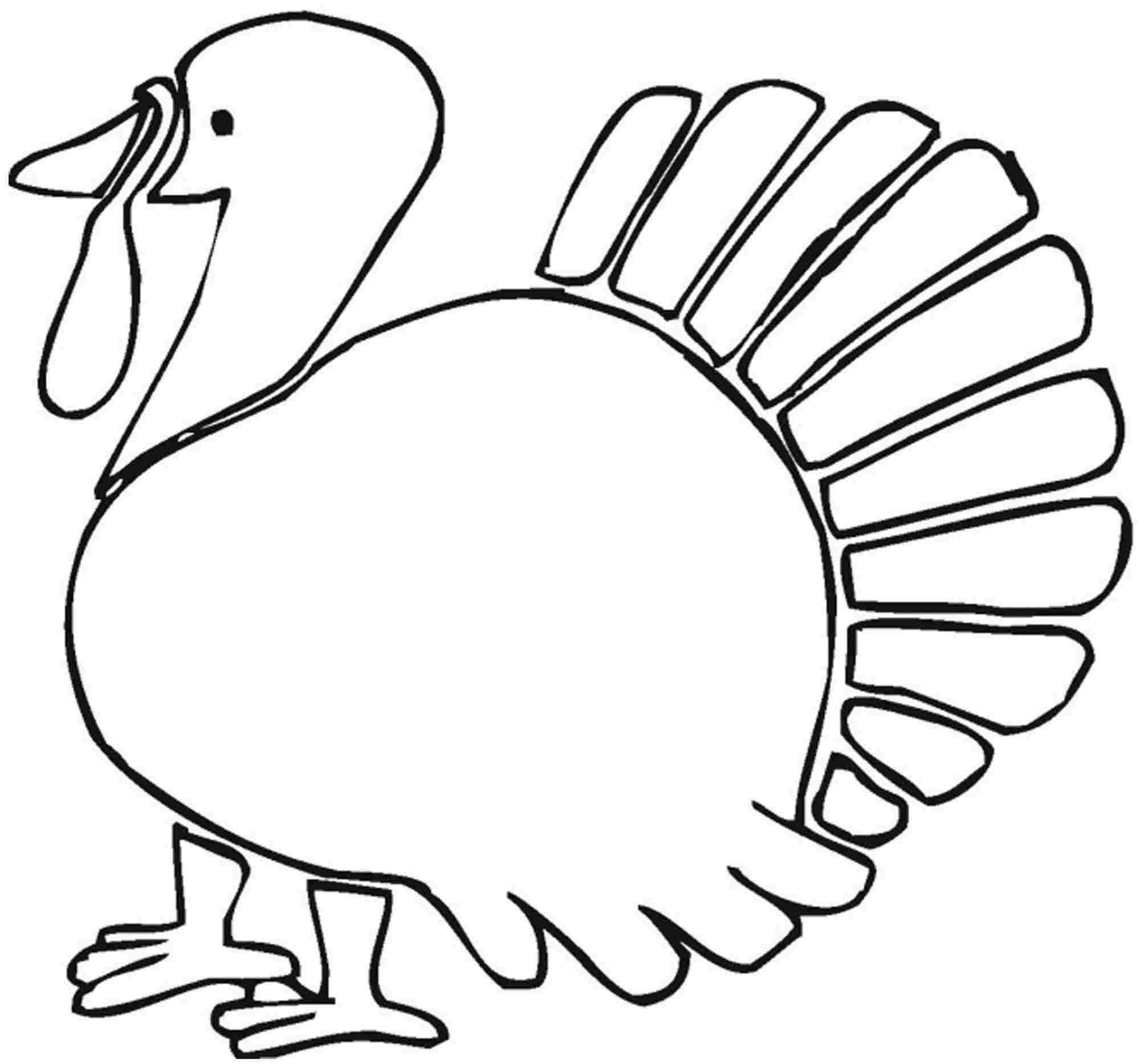 preschool turkey coloring pages - photo#25
