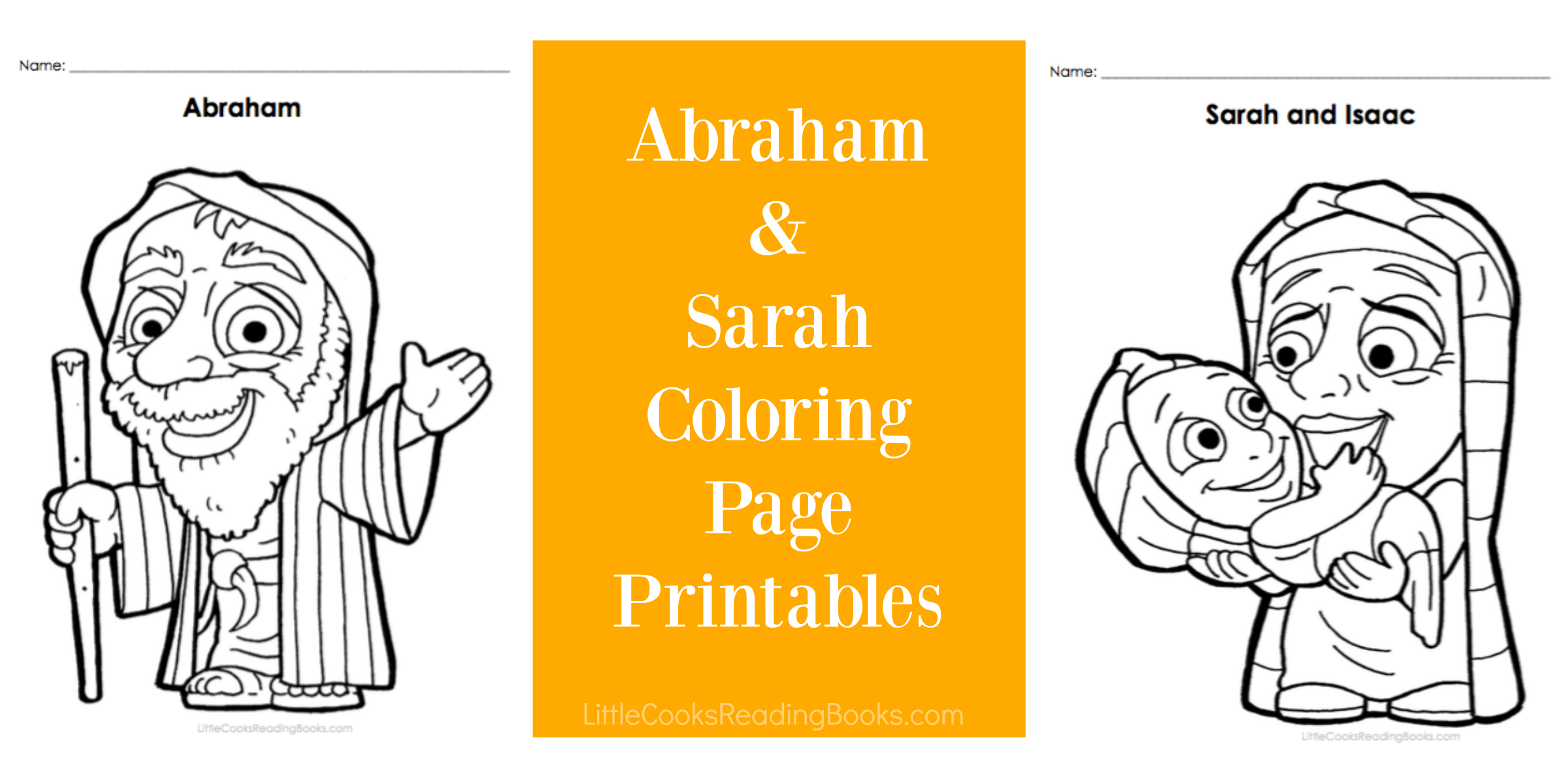 FREE Abraham And Sarah Coloring Pages | Little Cooks Reading Books ...