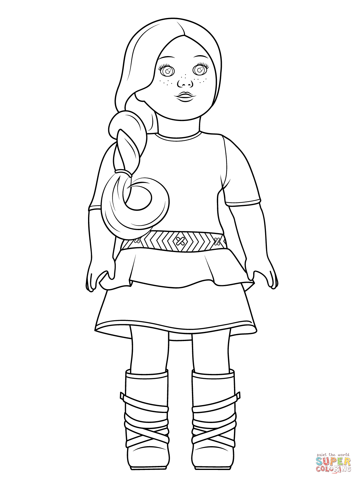 American Girl Coloring Page - Coloring Pages for Kids and for Adults