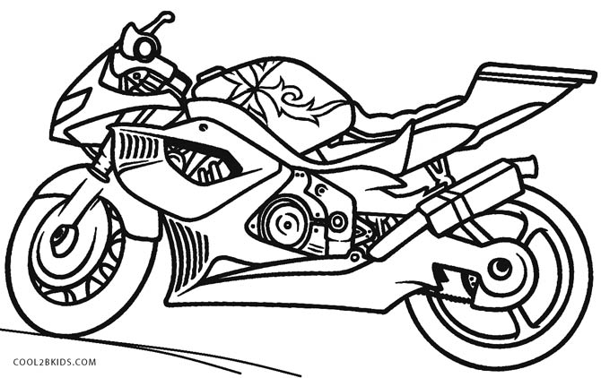 - Motor Bike Coloring Pages - Coloring Home