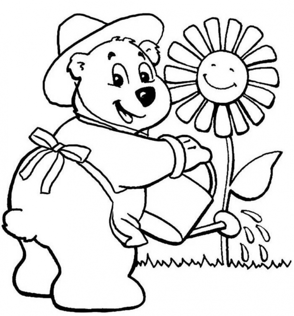 Coloring Flowers For Kids - Coloring Home