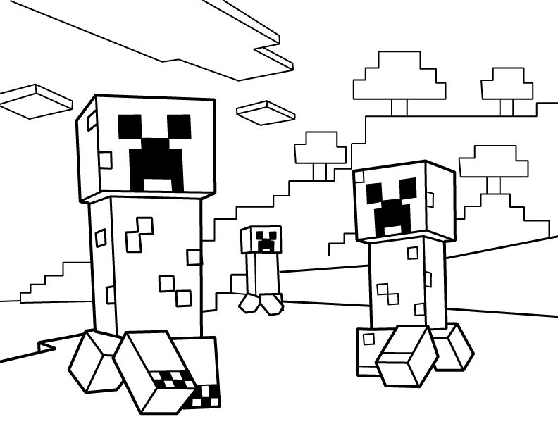Creeper Coloring Pages - Coloring Home