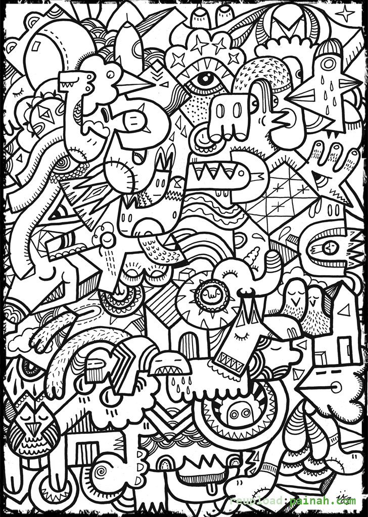Coloring Pages For Teenagers To Print - Coloring Home