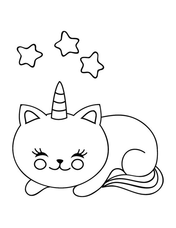 Unicorn Cat Coloring Pages Coloring Home