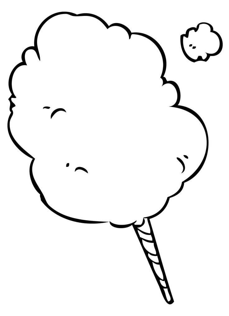 Candies Coloring Page