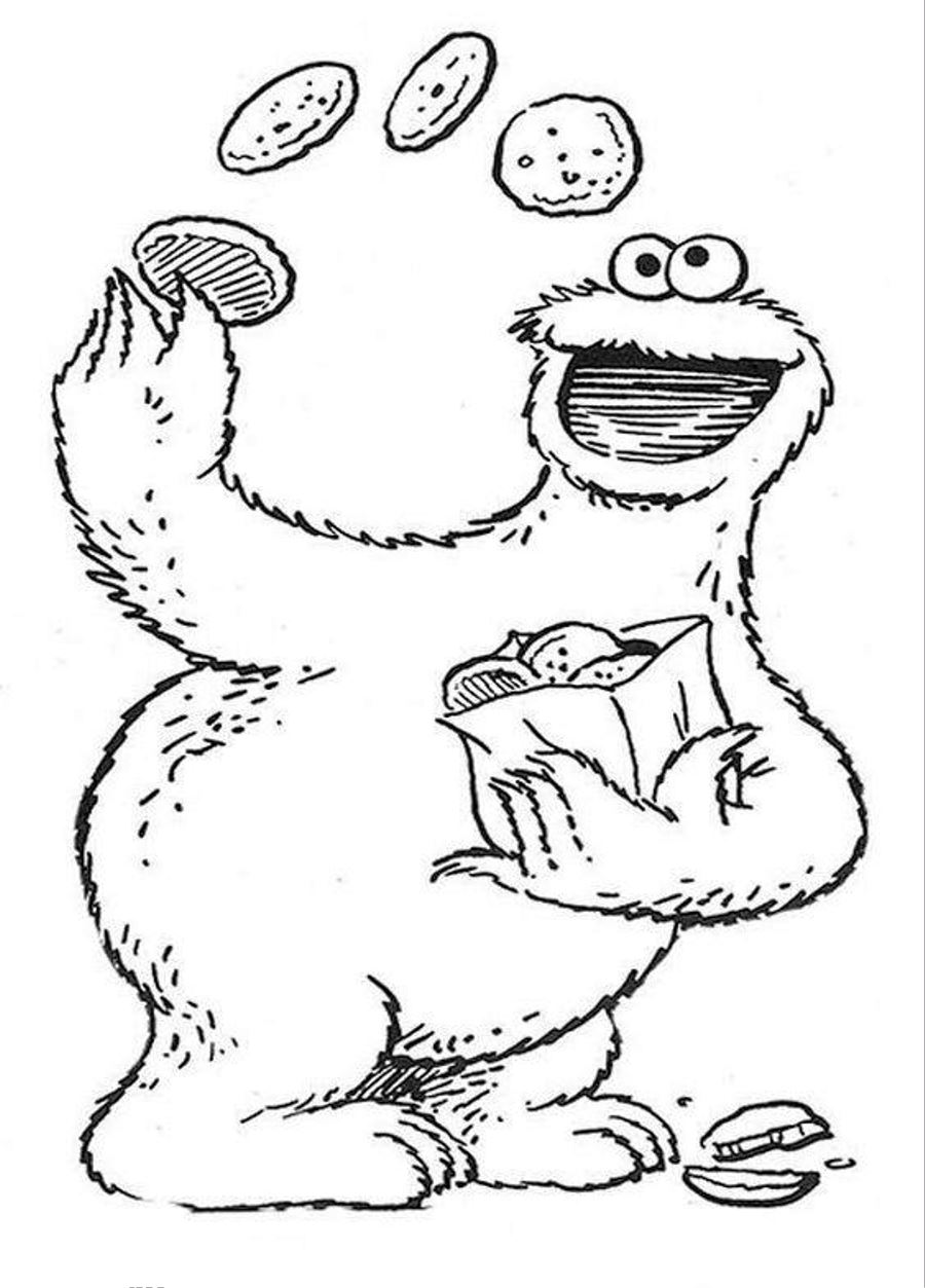 sesame street coloring sheets. sesame street charactor coloring ...