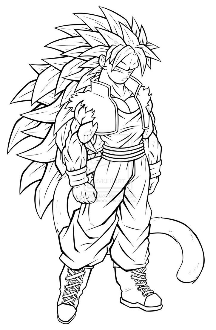 Coloring Pictures Of Goku Super Saiyan 4