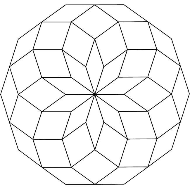 - Printable Geometric Design - Coloring Pages For Kids And For Adults -  Coloring Home