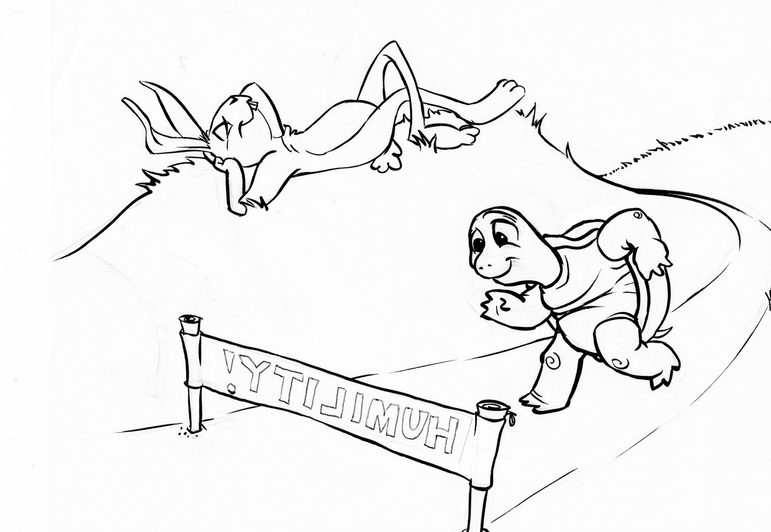 coloring pages turtle and hare - photo#9