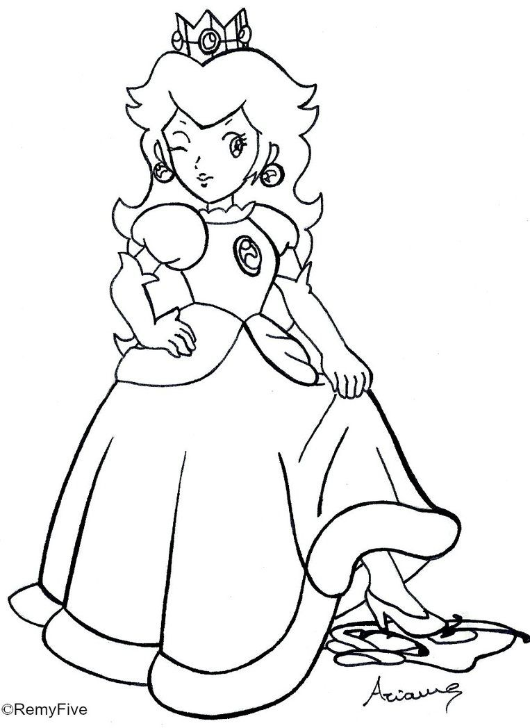 Princess Daisy Coloring Pages To Print High Quality Coloring Pages Coloring Home