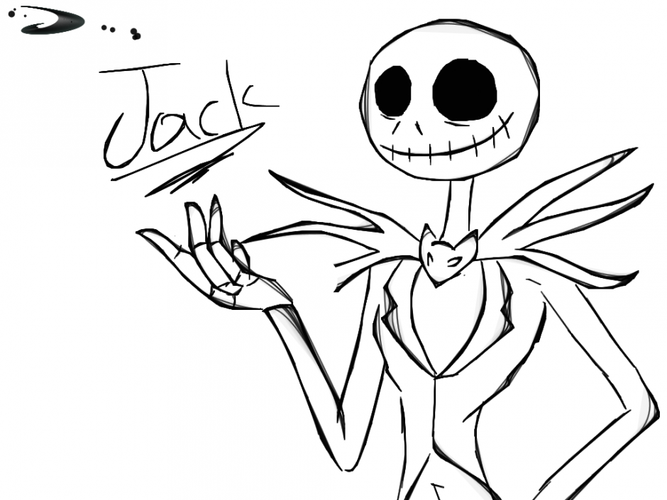 Nightmare before christmas coloring pages to print for Jack skellington coloring pages