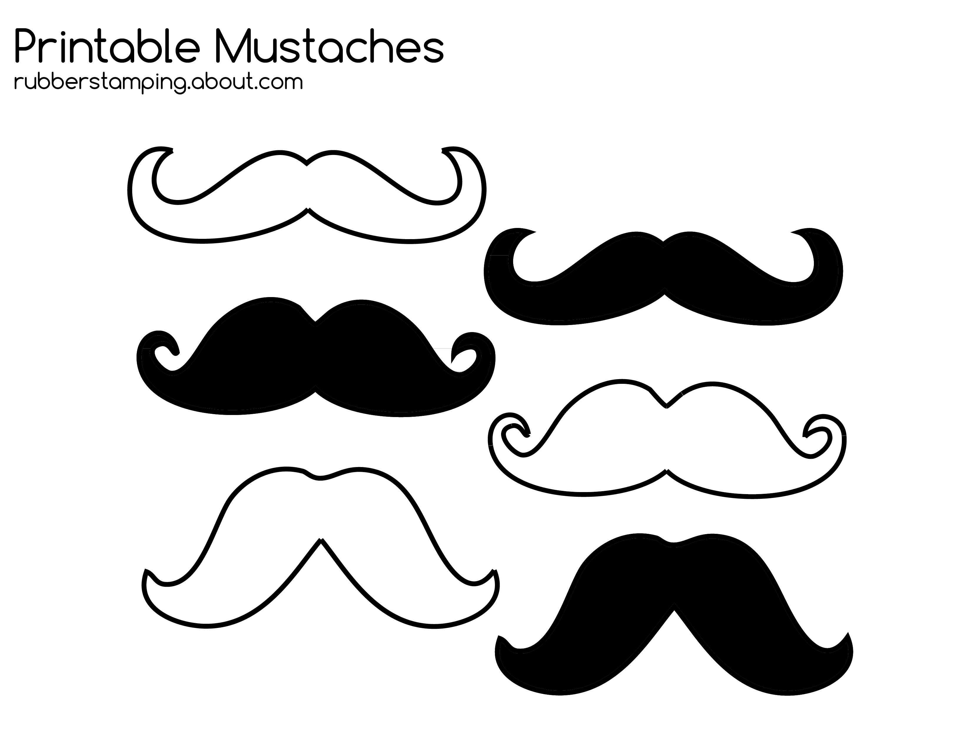 picture relating to Printable Mustache Templates named Mustache Coloring Web pages - Coloring House