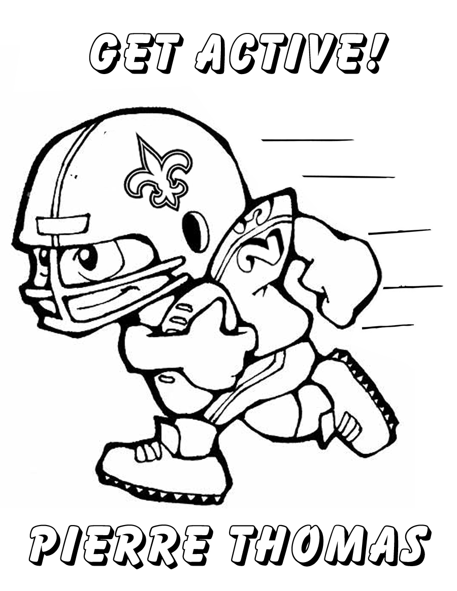 saints football coloring pages - photo#31