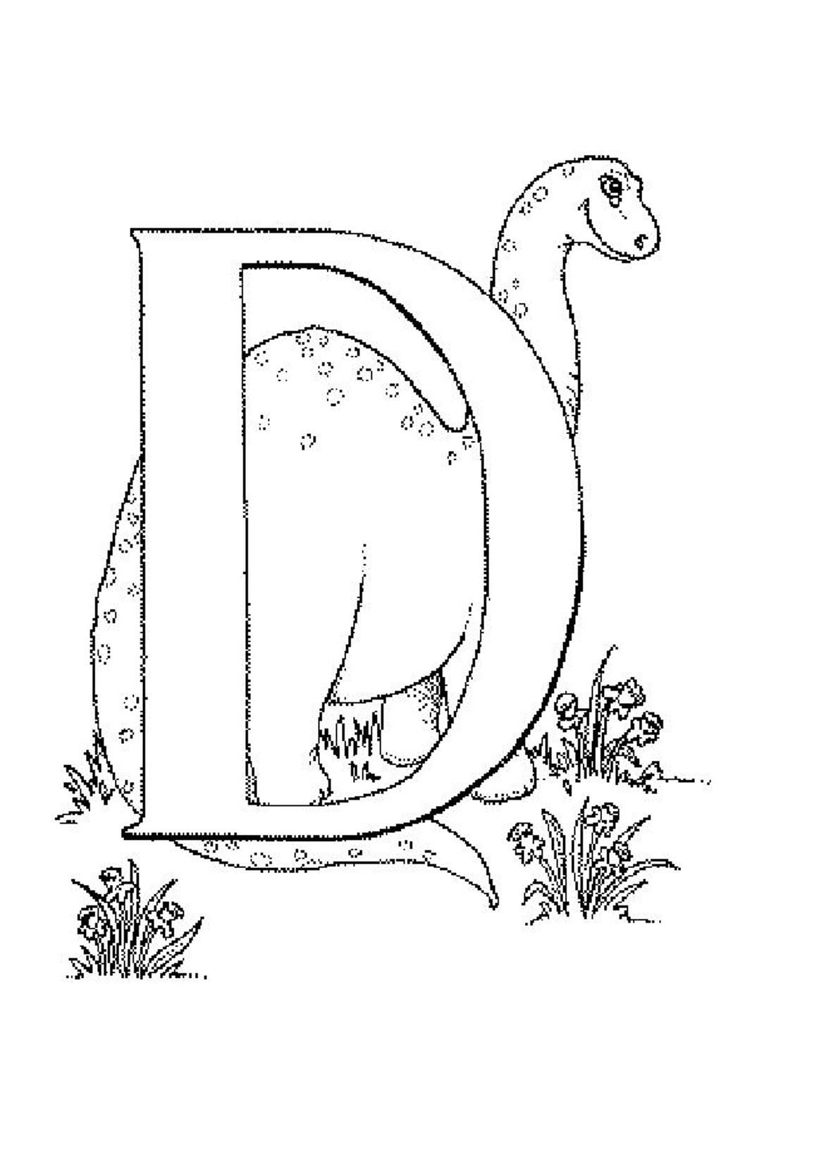 d is for dinosaur coloring pages - photo #10