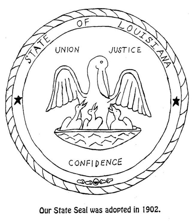 Louisiana State Seal Coloring Page