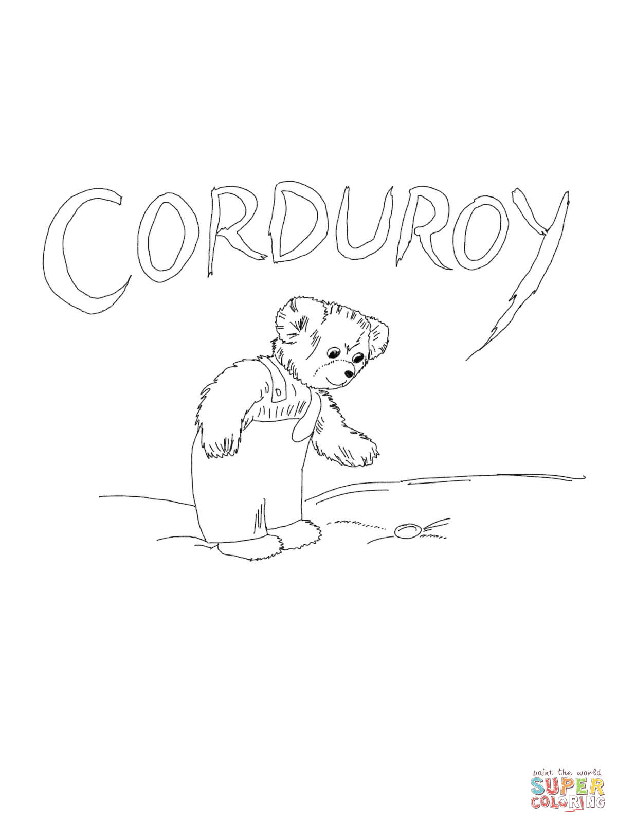 Adult Cute Corduroy Coloring Page Gallery Images best corduroy printables az coloring pages the bear page images