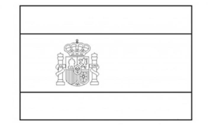 Spain Flag Emblem Coloring Page
