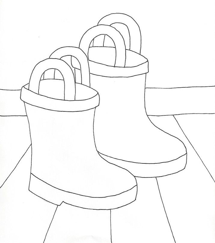 Rain Boots Coloring Page » Wee Folk Art