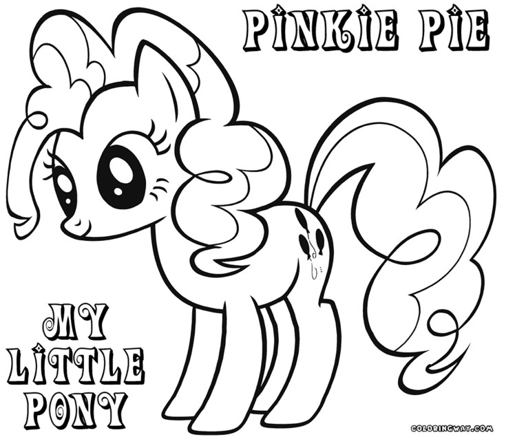 Young Pinkie Pie Coloring Pages My Little Pony Pinkie ...