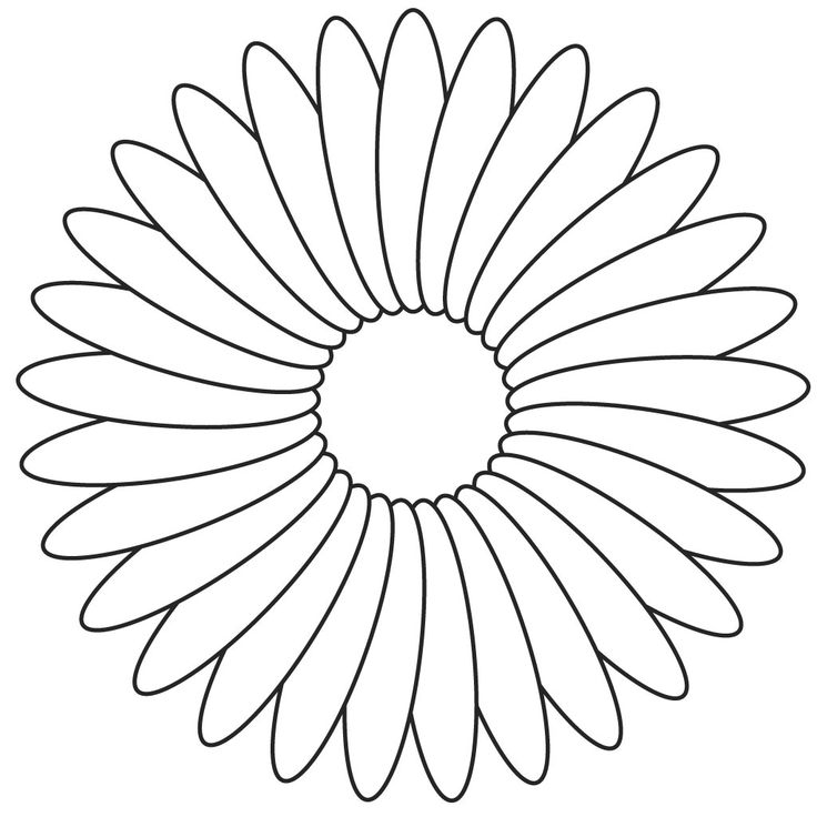 Flower Template For Kids To Cut Out - AZ Coloring Pages