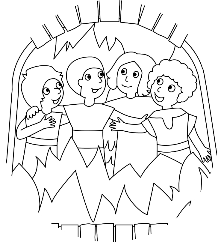 Shadrach Meshach And Abednego Coloring Page - Coloring Home