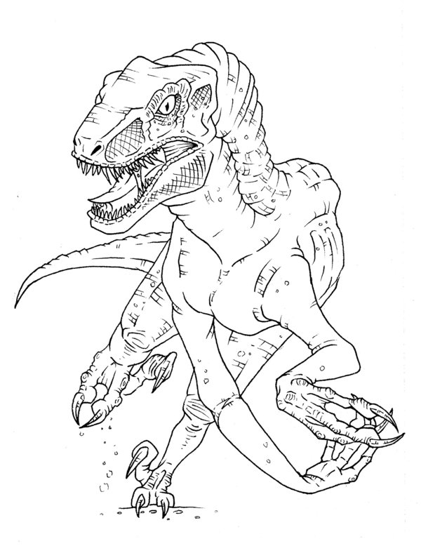 Jurassic World Velociraptor Raptor Coloring Page Coloring Home