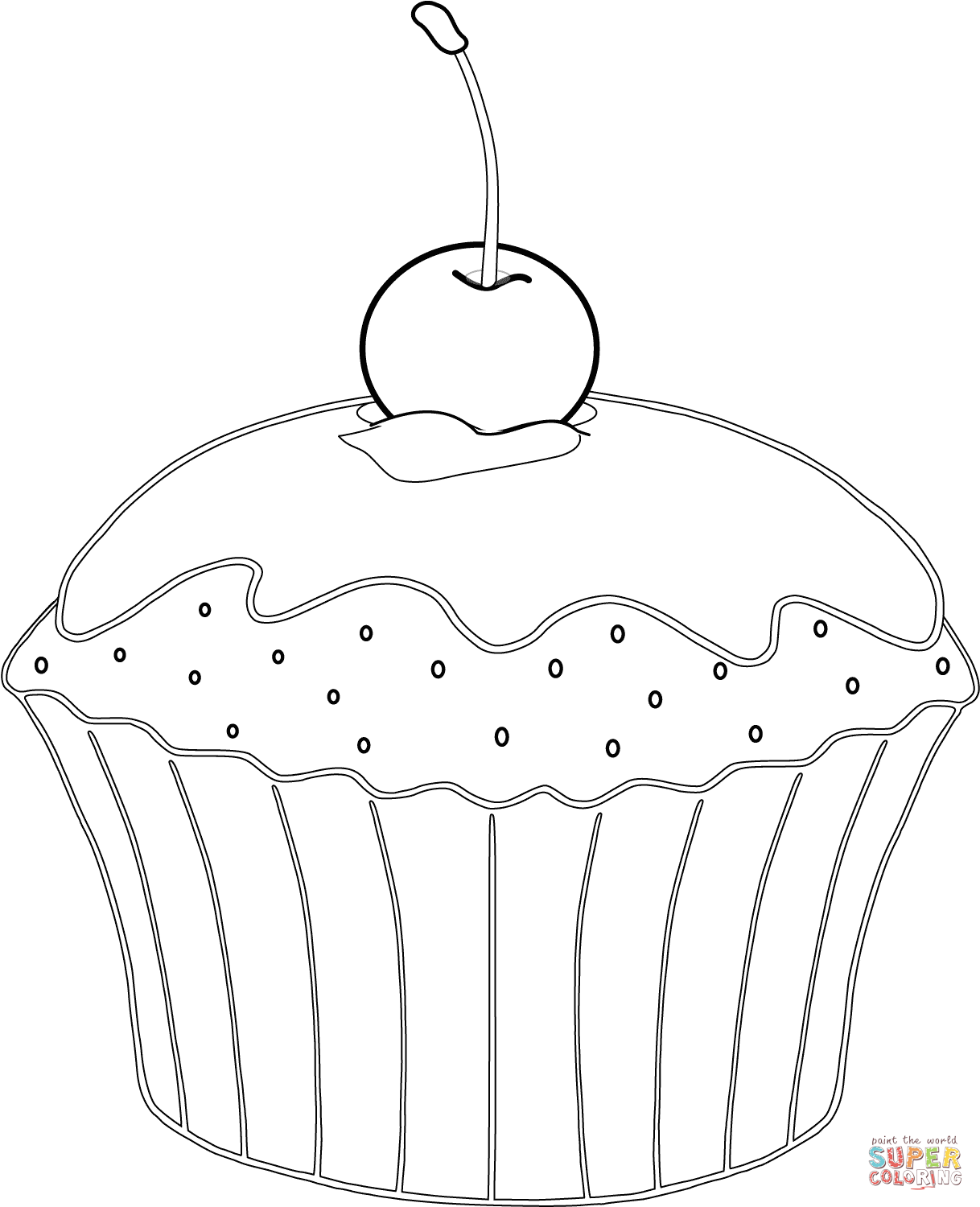muffin coloring pages coloring home
