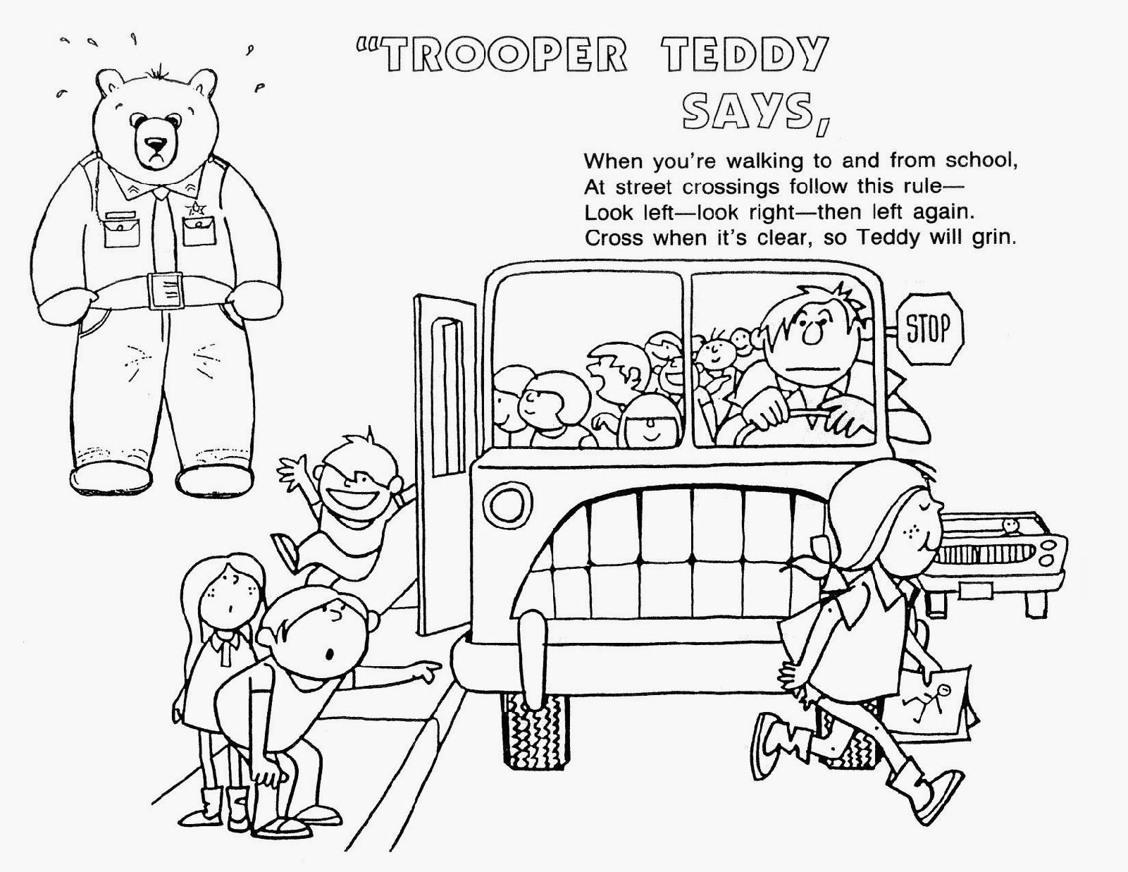 stranger danger coloring pages