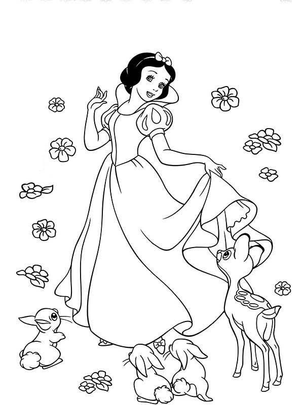 How to Draw Snow White and Her Friends Coloring Page: How to Draw ...