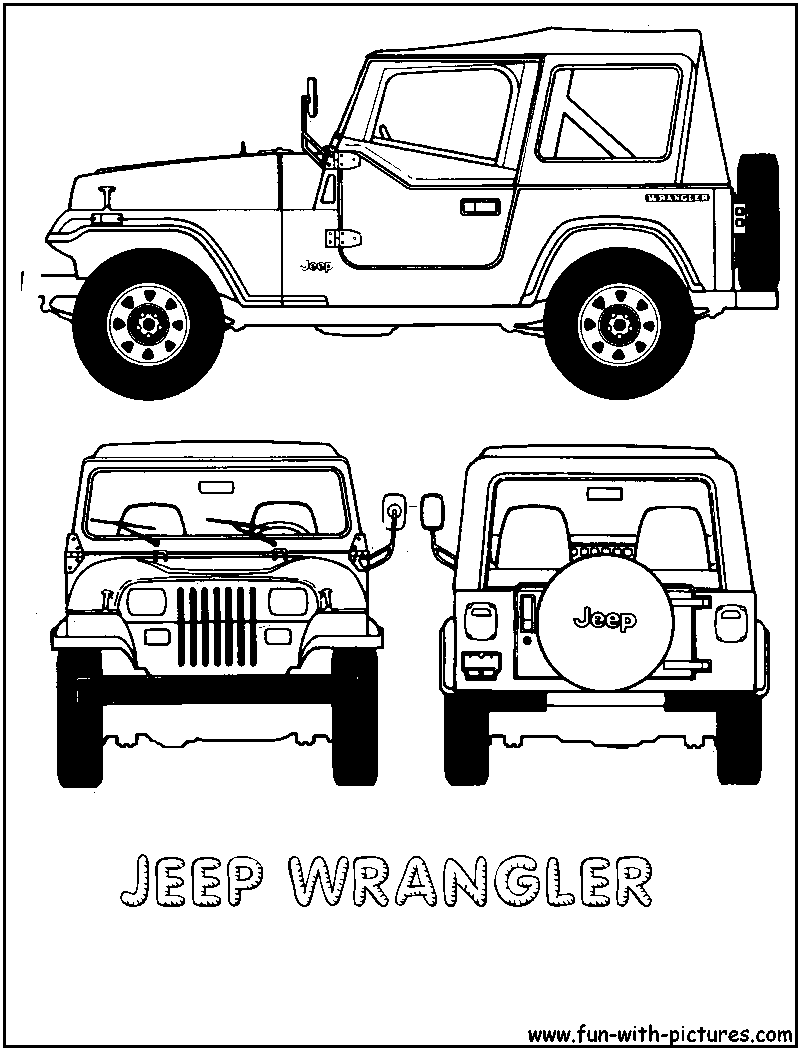 12 Pics Of Jeep Coloring Page Cartoon