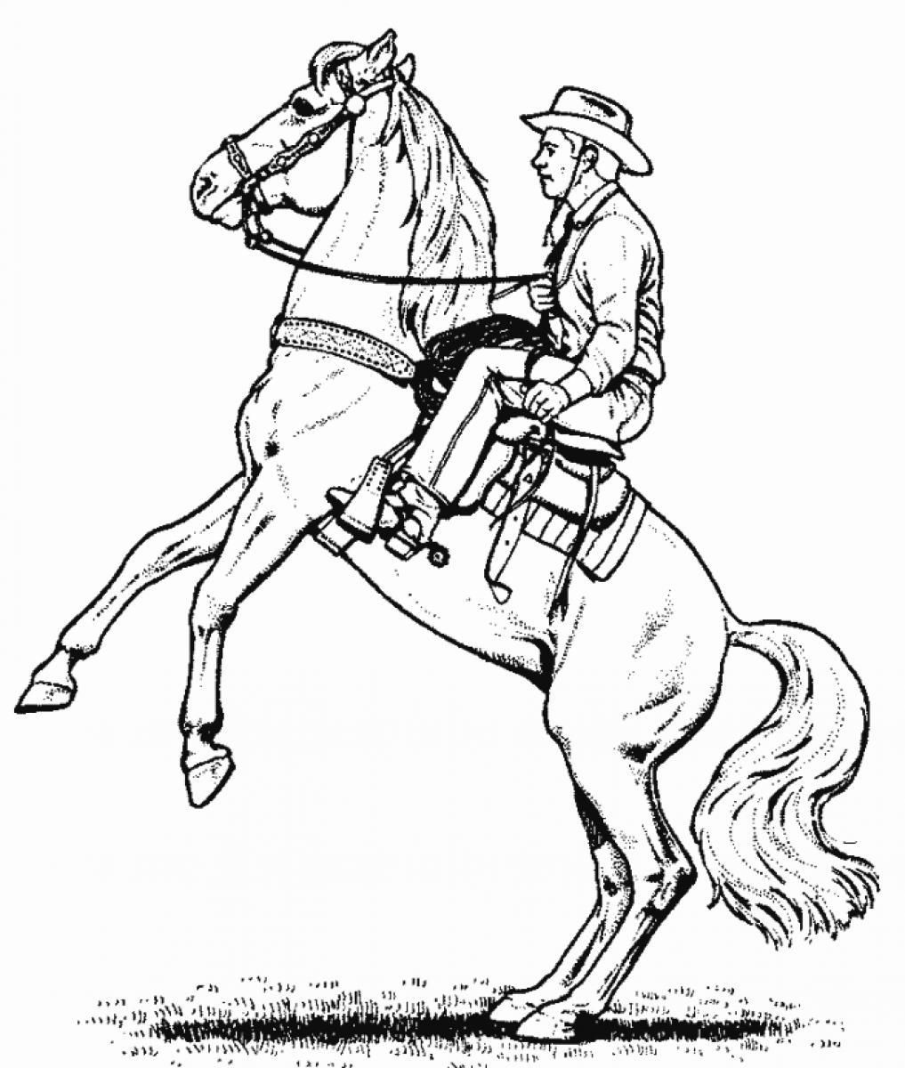 7 Pics of Cowboy And Horse Coloring Pages Printable - Cowboy Horse ...