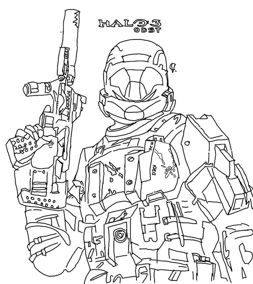 halo 3 odst coloring pages - photo#27