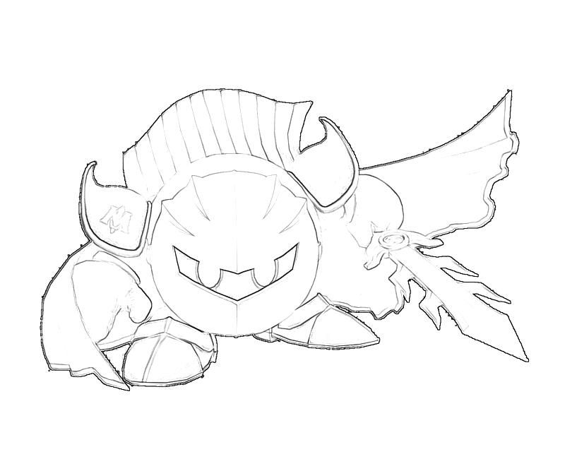 Meta Knight Coloring Page Coloring