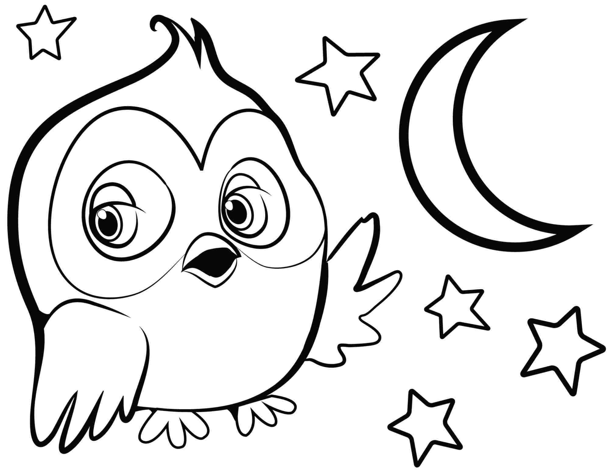 Cute owl coloring pages to print coloring home for Printable owl coloring pages