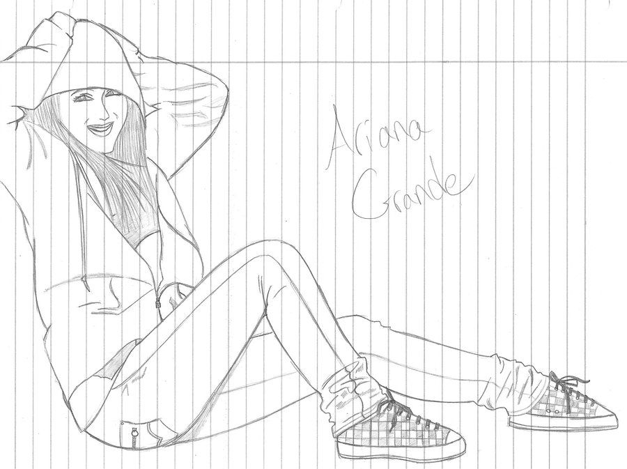 8 Pics Of Ariana Grande Coloring Pages