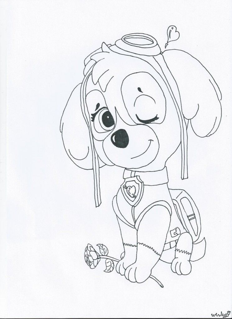 Skye Paw Patrol Coloring Pages : Skye paw patrol coloring page az pages